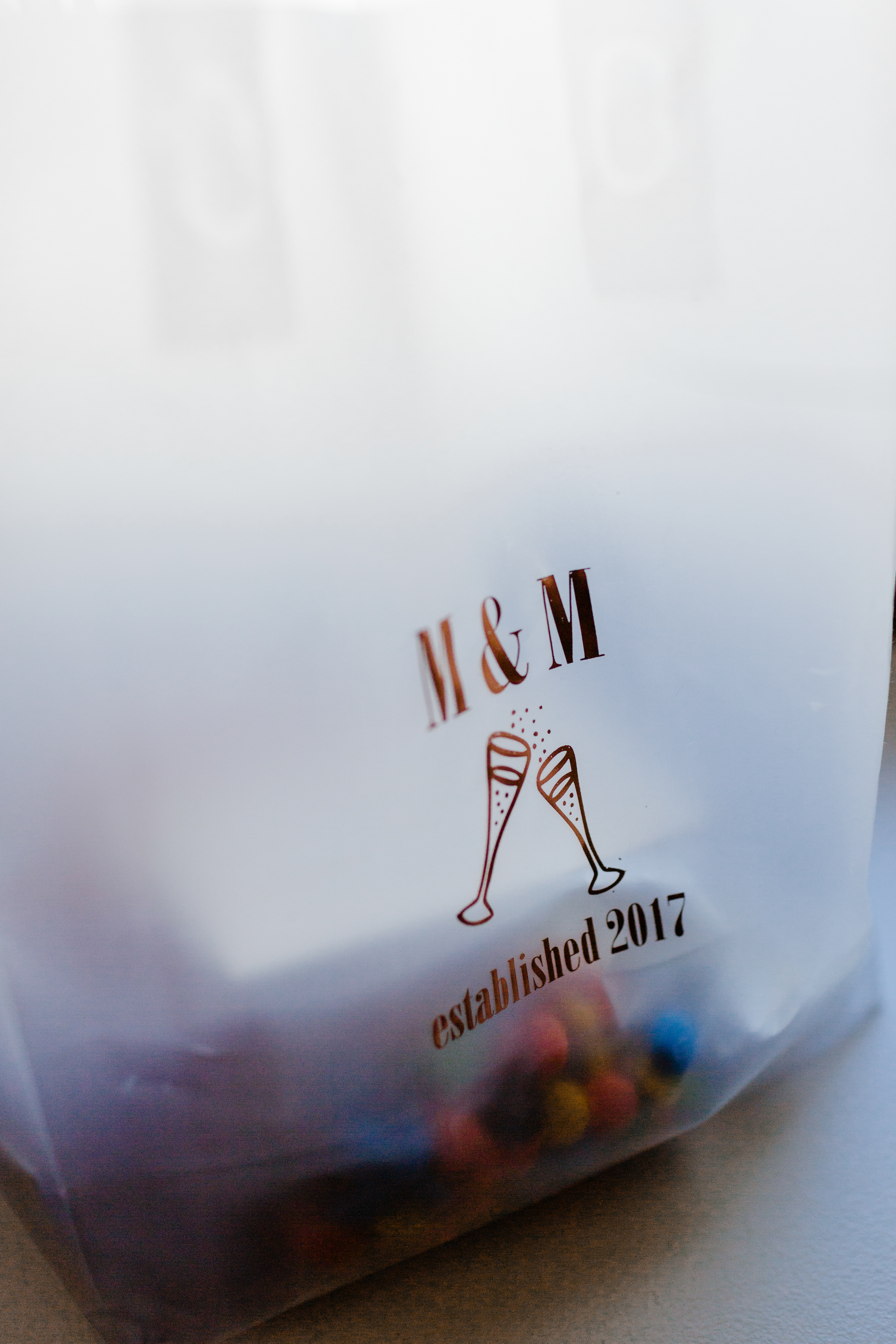 M and M detail bag with m&ms candy