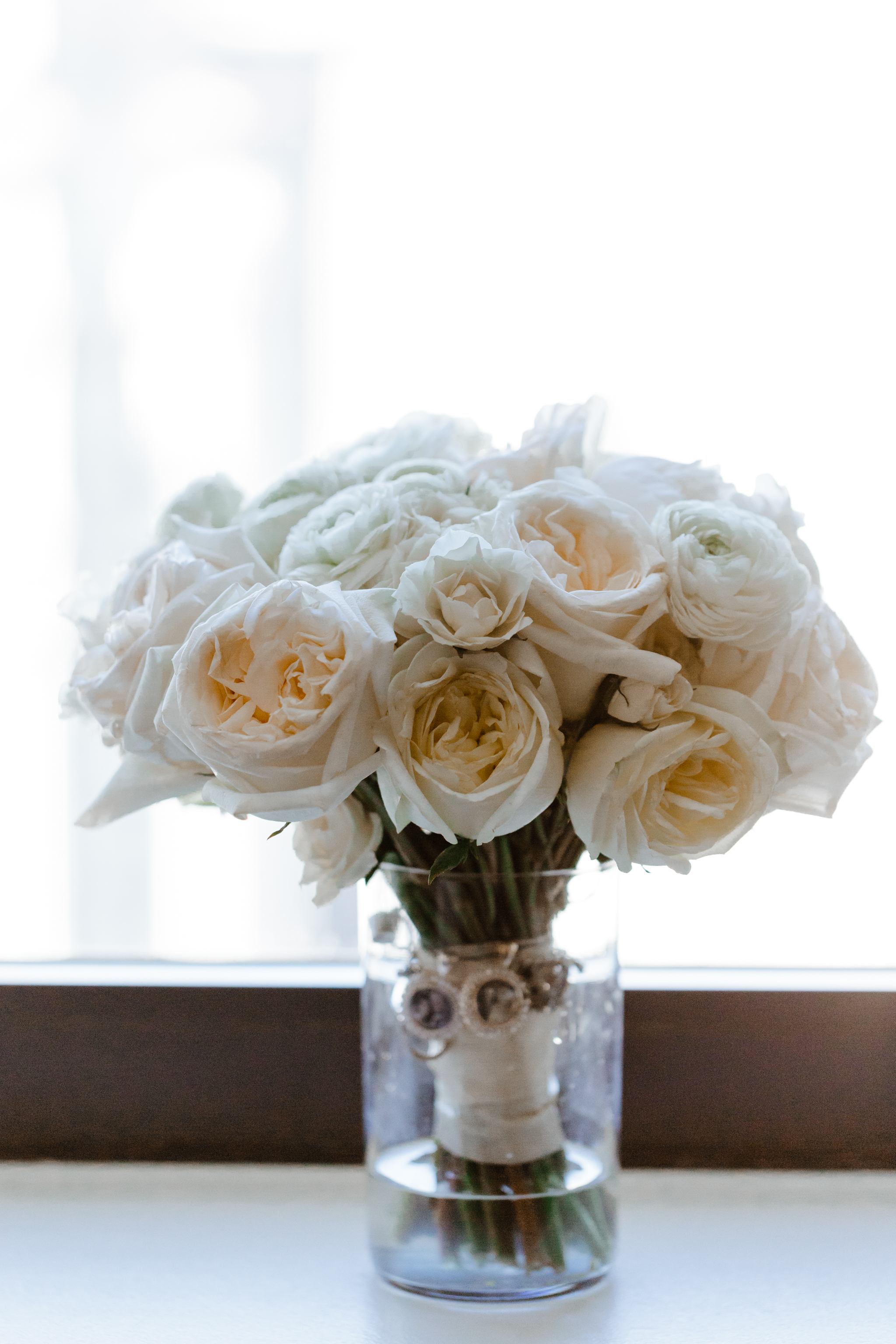 White floral bridal bouquet from Fleur in Logan Square Chicago, Illinois