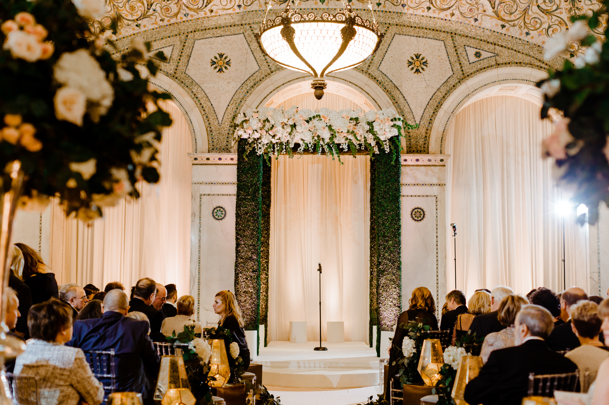 Ceremony room setup at the Chicago Cultural Center