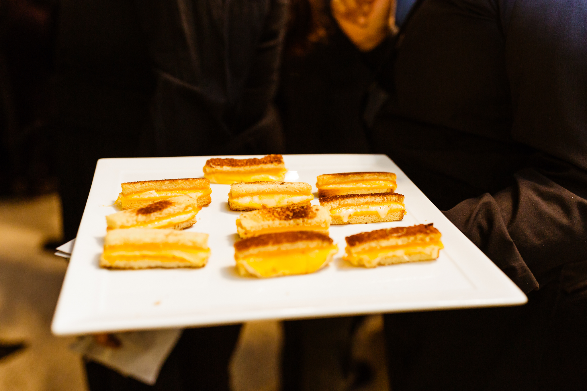 Grilled cheese hors d'oeuvres