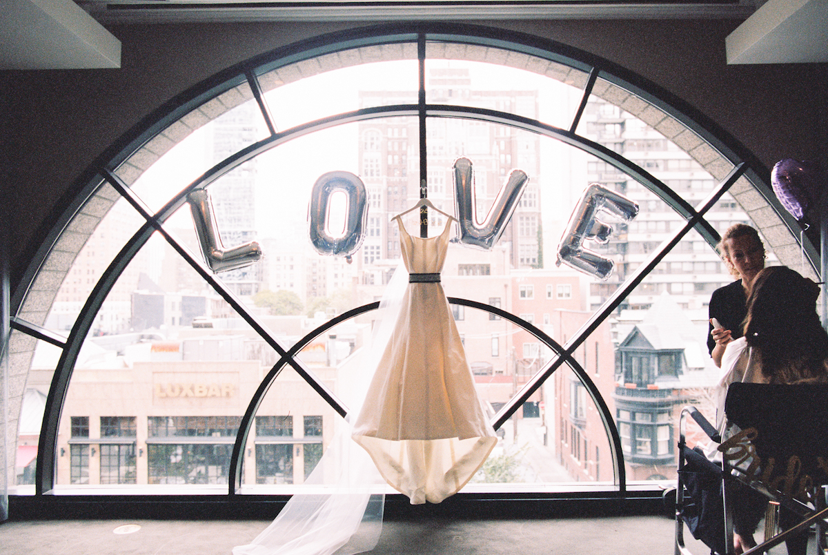 Love and a Dress in a Window