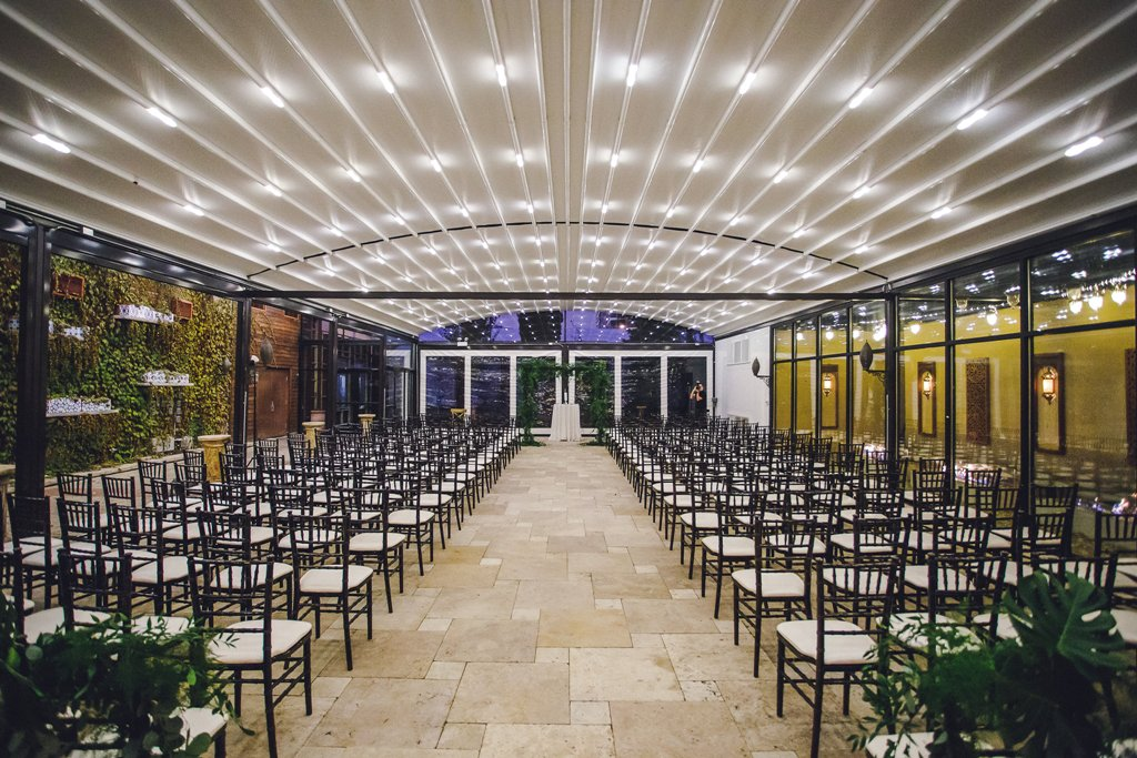 Detail shot of ceremony room at Galleria Marchetti