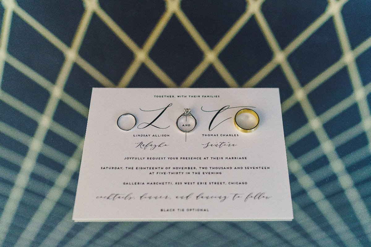 Invitation and ring details