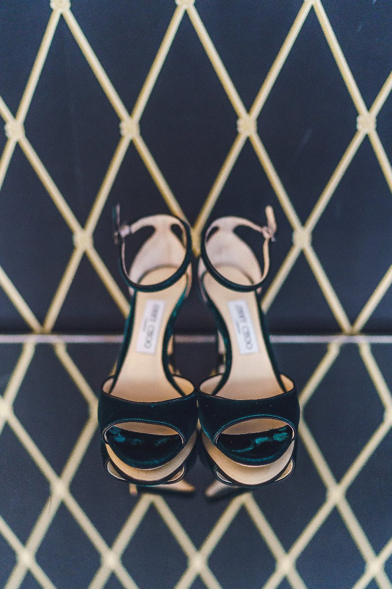 Styled Jimmy Choo wedding shoes